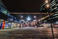 Bahnhof stad ett nytt område i Wien Fotografering för Bildbyråer