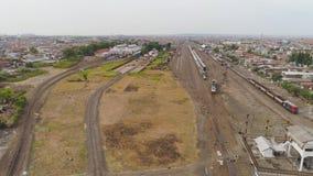 Bahnhof in Surabaya Indonesien stock video