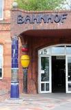 Bahnhof Uelzen Hundertwasser lizenzfreie stockfotos