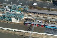 Bahnhof von oben Lizenzfreies Stockbild