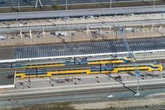 Bahnhof von oben Stockfoto
