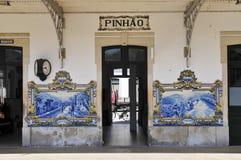 Bahnhof von pinhao lizenzfreie stockfotografie