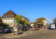 Bahnhofplatz square in the town of Rapperswil Royalty Free Stock Photo