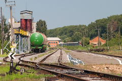 Bahnhofs-Ölstation lizenzfreie stockbilder