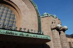Bahnhofsdetail Helsinkis Lizenzfreie Stockfotos
