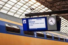 Bahnhofsplatte Lizenzfreie Stockfotos