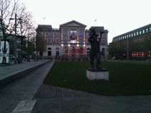 Bahnhofsplatz em Brema Fotografia de Stock Royalty Free