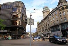 Bahnhofstrasse,瑞士苏黎士 免版税库存图片