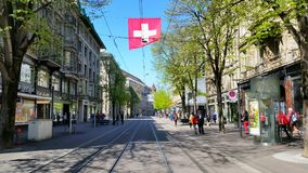 Bahnhofstrasse Fotos de archivo libres de regalías