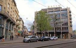 Bahnhofstrasse in Zurich, Switzerland. Stock Photography