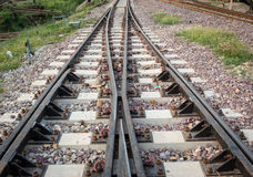 Bahnkreuzung Stockfoto