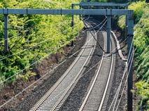 Bahnkurvenbahn Stockfotos