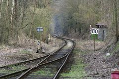 Bahnlinie Stockbild