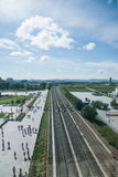 Bahnlinien Manjurs im Ausland Stockfotos
