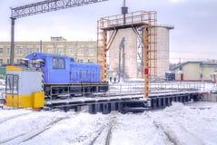 Bahnlokomotivdepot Lizenzfreie Stockbilder