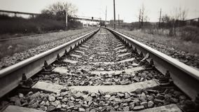 Bahnschienen Stockfoto