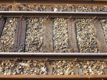Bahnschienenstrang stockfotos