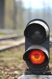 Bahnsemaphor Lizenzfreies Stockbild