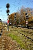 Bahnsignale Stockfoto