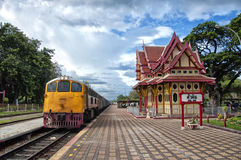 Bahnstation 03 Hua-Hin Lizenzfreie Stockfotos