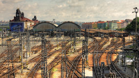 Bahnstation. Stockbild