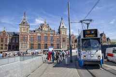 Bahnstation Amsterdams Centraal Stockfoto