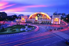 Bahnstation in Bangkok, Thailand Lizenzfreies Stockbild