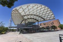Bahnstation in der Nähe Stockfoto
