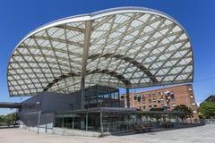 Bahnstation in der Nähe Lizenzfreie Stockbilder