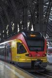 Bahnstation in Frankfurt, Deutschland Stockbilder