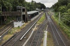 Bahnstation in Hamburg, Deutschland stockbild