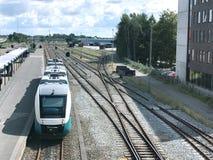 Bahnstation in Herning, Dänemark stockfotos