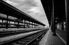 Bahnstation in Italien Stockbild