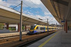 Bahnstation Krakaus Glowney lizenzfreie stockbilder