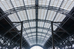 Bahnstation Leipzigs Bahnhof Wireframe-Struktur-Komplex Abstra Lizenzfreies Stockbild