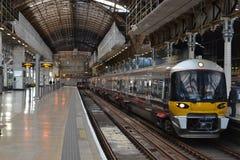 Bahnstation Londons Paddington Stockbild