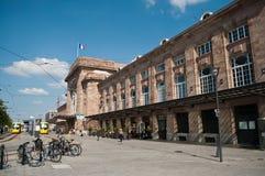 Bahnstation in Mulhouse Stockbild
