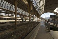 Bahnstation in Nizza, Frankreich Stockbild