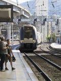Bahnstation in Nizza, Frankreich Stockbilder