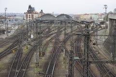 Bahnstation in Prag Stockfotos