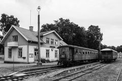 Bahnstation. Vadstena. Schweden Stockfotografie