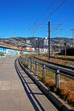 Bahnstation in Valparaiso, Chile Stockbild