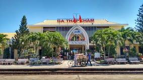 Bahnstation in Vietnam Lizenzfreie Stockbilder