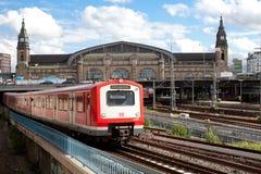 Bahnstation von Hamburg, Deutschland Stockbild