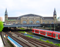 Bahnstation von Hamburg, Deutschland Lizenzfreies Stockbild