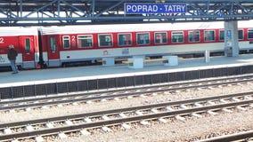 Bahnstation von Poprad Stockbilder