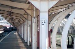 Bahnstationsplattform Lizenzfreie Stockfotografie