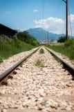 Bahnstrecke geht voran Lizenzfreies Stockfoto