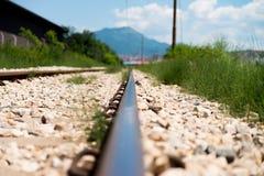 Bahnstrecke geht voran Stockbilder