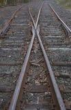 Bahnstrecke-Schalter Stockbild